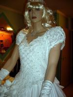 Foto 6 Wei�es, verspieltes, romantisches Brautkleid Gr. 40- Artikelzustand: Gebraucht und gereinigt.