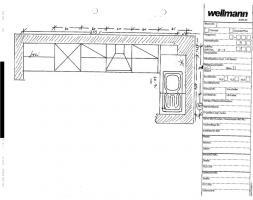 Wellmann-Küche, knapp 2 Jahre, L-Form, Farbe: vanille + noce