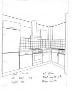 Foto 2 Wellmann-Küche, knapp 2 Jahre, L-Form, Farbe: vanille + noce
