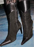 Wie neu! Fein&Modern! Glamour�se Stiefeletten, Gr.35, echtes Leder