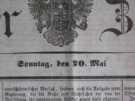 Foto 2 Wiener Zeitung aus dem Jahre 1849