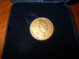 William IV gold souveränen und Echtheits-Zertifikat