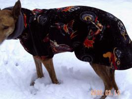 Windhundmantel doppeltes Polarfleece