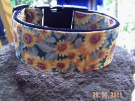 Halsband''Sonnenblume''4cm breit verstellbar