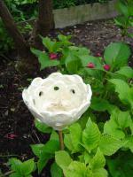 Foto 2 Windlicht Blume Bl�te perlmutt Garten Terrasse Balkon Dekoration Geschenk
