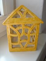 Windlicht gelb Garten Terrasse Balkon Tischdeko Geschenk