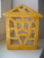 Foto 2 Windlicht gelb Garten Terrasse Balkon Tischdeko Geschenk