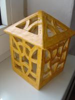 Foto 3 Windlicht gelb Garten Terrasse Balkon Tischdeko Geschenk