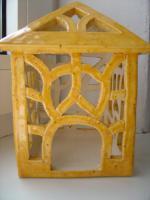 Foto 4 Windlicht gelb Garten Terrasse Balkon Tischdeko Geschenk