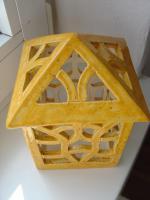 Foto 5 Windlicht gelb Garten Terrasse Balkon Tischdeko Geschenk