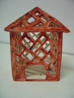 Foto 2 Windlicht rot Garten Terrasse Balkon Tischdeko Geschenk
