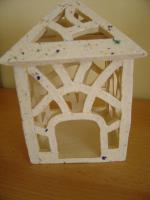 Foto 3 Windlicht weiß Garten Terrasse Balkon Tischdeko Geschenk