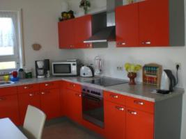 Winkel-Küche mit Einbaugeräten
