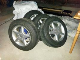 Foto 2 Winterreifen Komplett Satz auf Alufelgen für BMW E39