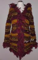 Winterstrickjacke Hippie Goamode, Ethno Kleidung