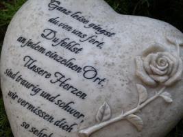 Wir vermissen Dich, Grabdeko Herzen, In Liebe, Herz Grabstätte