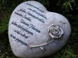 Foto 3 Wir vermissen Dich, Grabdeko Herzen, In Liebe, Herz Grabstätte