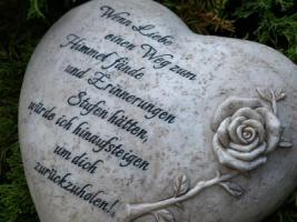 Foto 5 Wir vermissen Dich, Grabdeko Herzen, In Liebe, Herz Grabstätte