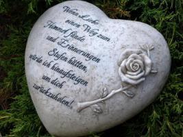 Foto 6 Wir vermissen Dich, Grabdeko Herzen, In Liebe, Herz Grabstätte