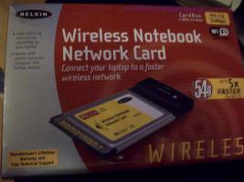 Wireless Notebook Network Card 2,4 GHz 54Mbps