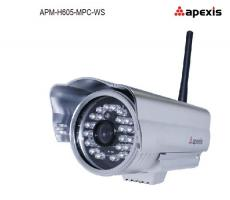 Wireless outdoor waterproof HD megapixel box ip cameras APM-H605-MPC-WS
