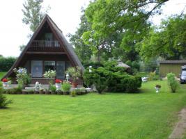 Wochenendehaus/ Finnhütte 48m² auf 1200m² Pachtland