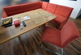 Wohn - Speiseprogramm - Eckbankgruppe mit Stuhl
