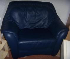 Foto 2 Wohnlandschaft (Couch), Echtleder, sehr guter Zustand