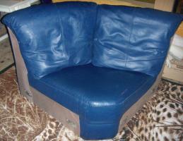 Foto 3 Wohnlandschaft (Couch), Echtleder, sehr guter Zustand