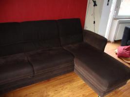 Foto 5 Wohnlandschaft, Couch aus Microfaser dunkelbraun 3 Jahre alt