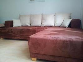Wohnlandschaft, Sofa, Eckcouch mit Schlaffunktion