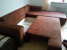 Foto 2 Wohnlandschaft, Sofa, Eckcouch mit Schlaffunktion