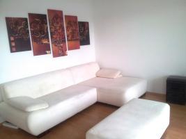 Foto 2 Wohnlandschaft, große Couch / Sofa, weiß, & Hocker, Top-Zustand, Schnäppchen!