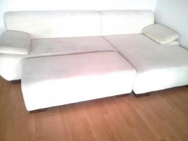 Foto 3 Wohnlandschaft, große Couch / Sofa, weiß, & Hocker, Top-Zustand, Schnäppchen!
