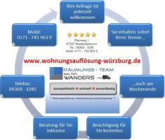 Wohnungsauflösung Würzburg und Umgebung