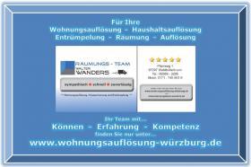 Wohnungsauflösung Würzburg / Ihr Team mit Können - Erfahrung - Kompetenz