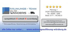 Foto 5 Wohnungsauflösung Würzburg / Ihr Team mit Können - Erfahrung - Kompetenz