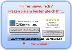 Foto 8 Wohnungsauflösung Würzburg / Ihr Team mit Können - Erfahrung - Kompetenz