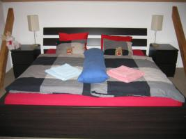 Bett + Nachtschränke