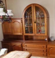 Foto 2 Wohnwand massiv Holz ca.3Meter breit, Esstisch mit 6Stühlen, Couchtisch