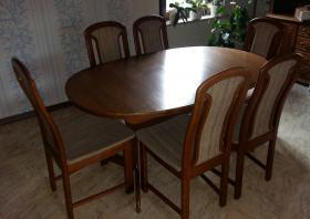 Foto 4 Wohnwand massiv Holz ca.3Meter breit, Esstisch mit 6Stühlen, Couchtisch