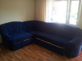 Wohnzimmer Cochgarnitur und Sessel in Marine Blau