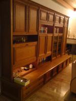 Wohnzimmer-Schrank, Eiche-massiv