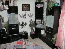 Wohnzimmer Set, hochglanz schwarz