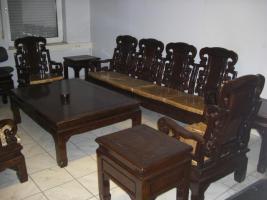 Wohnzimmer Sitzgruppe Asiatisch Holz