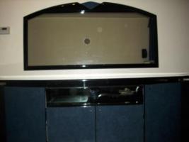Foto 4 Wohnzimmer Vitrinen Schränke mit Sideboard und Spiegel