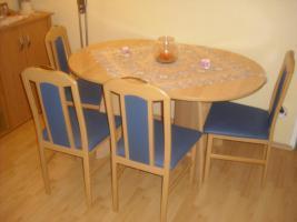 Foto 2 Wohnzimmer (Wohnwand, Sideboard, Esstisch, 6 Stühle)