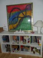 Wohnzimmerregal/Raumteiler weiß
