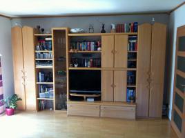 Wohnzimmerschrank Buche hell, 360 cm