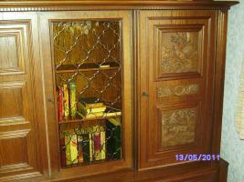 Foto 3 Wohnzimmerschrank Eiche-massiv auch für Jagdzimmer zu verkaufen!!!